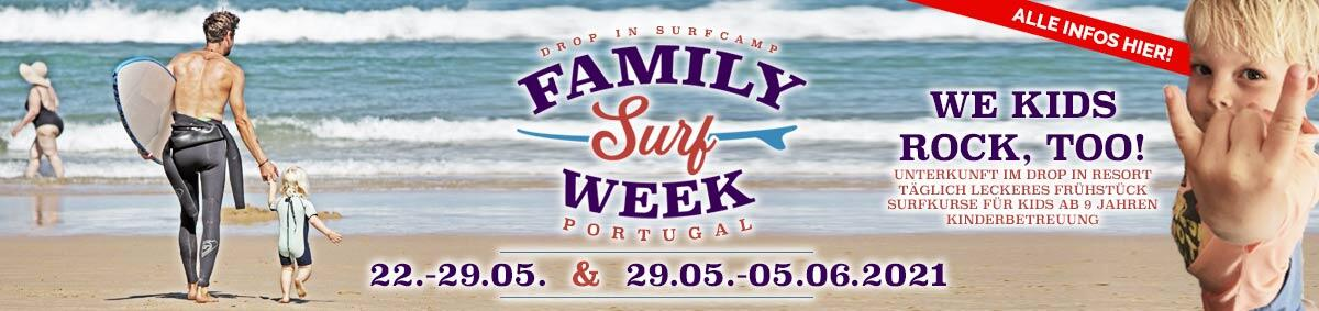 Drop In Surfcamp - Family Week